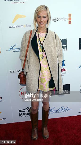 Actress Isabel Lucas attends the premiere of 'That Sugar Film' hosted by Australians in Film at Harmony Gold Theatre on July 20 2015 in Los Angeles...