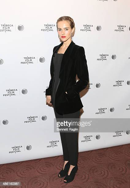 Actress Isabel Lucas attends the screening of 'Electric Slide' during the 2014 Tribeca Film Festival at Chelsea Bow Tie Cinemas on April 22 2014 in...