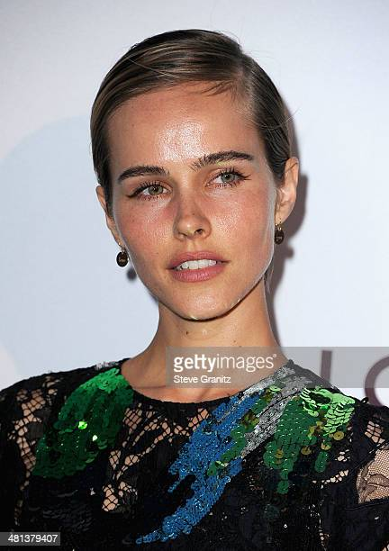 Actress Isabel Lucas wearing Louis Vuitton attends MOCA 35th Anniversary Gala Celebration at The Geffen Contemporary at MOCA on March 29 2014 in Los...
