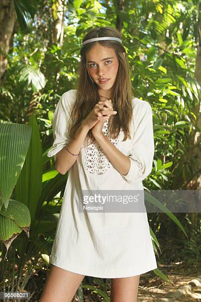 Actress Isabel Lucas who has appeared in television series 'Home And Away' and feature films poses on May 19 2008 in Cairns Australia