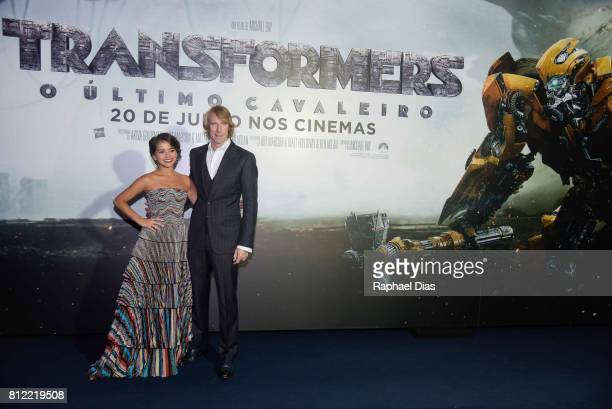 Actress Isabela Moner and Director Michael Bay attends the Latin American premiere of Transformers The Last Knight at Cinepolis JK on July 10 2017 in...