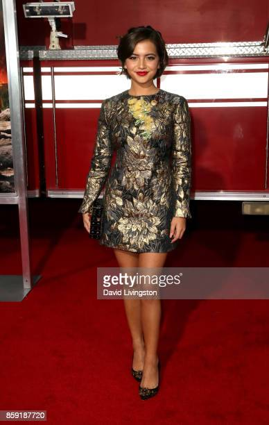 Actress Isabela Moner attends the premiere of Columbia Pictures' 'Only the Brave' at Regency Village Theatre on October 8 2017 in Westwood California