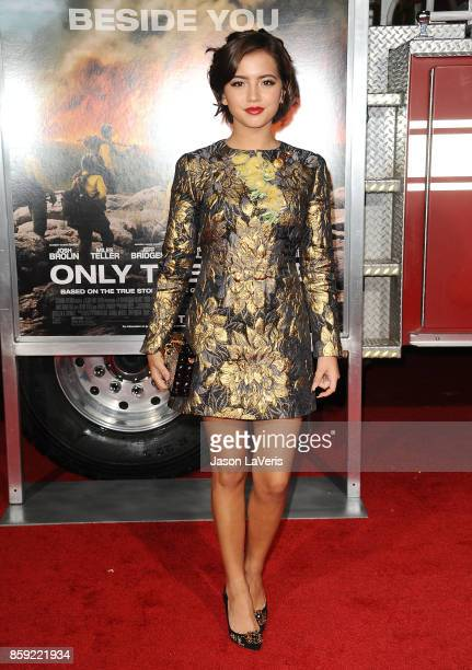 Actress Isabela Moner attends the premiere of 'Only the Brave' at Regency Village Theatre on October 8 2017 in Westwood California