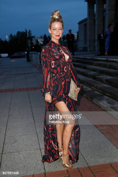 Actress Isabell Hertel attends the UFA 100th anniversary celebration at Palais am Funkturm on September 15 2017 in Berlin Germany