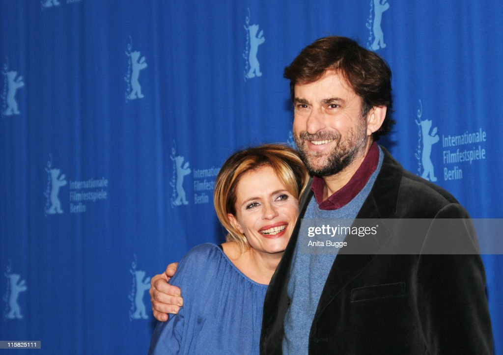 Actress Isabella Ferrari and <a gi-track='captionPersonalityLinkClicked' href=/galleries/search?phrase=Nanni+Moretti&family=editorial&specificpeople=621165 ng-click='$event.stopPropagation()'>Nanni Moretti</a> attend the 'Quiet Chaos' Photocall on day seven of the 58th Berlinale Film Festival at the Grand Hyatt Hotel on February 13, 2008 in Berlin, Germany.