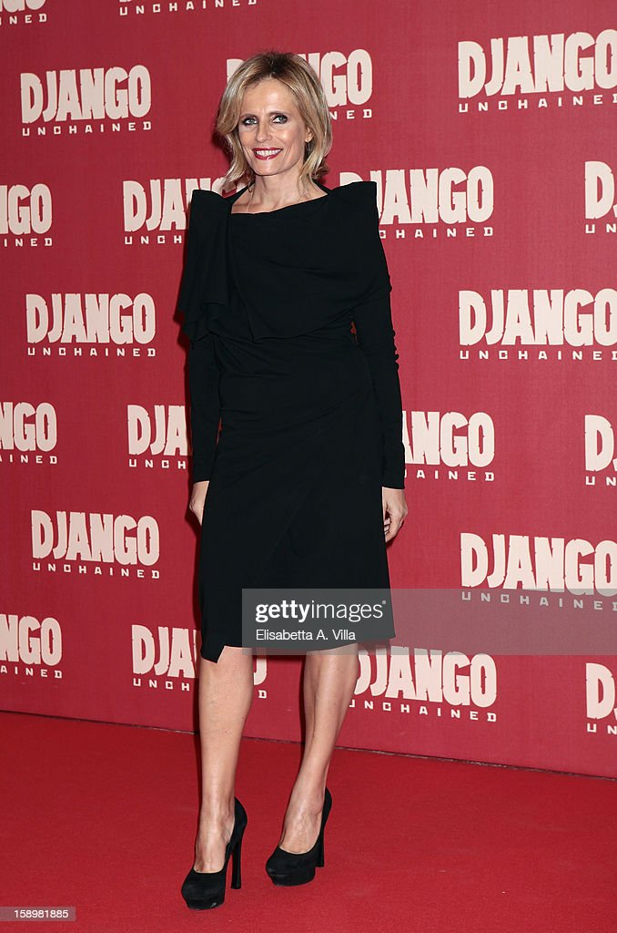 Actress Isabella Ferrari attends 'Django Unchained' premiere at Cinema Adriano on January 4, 2013 in Rome, Italy.
