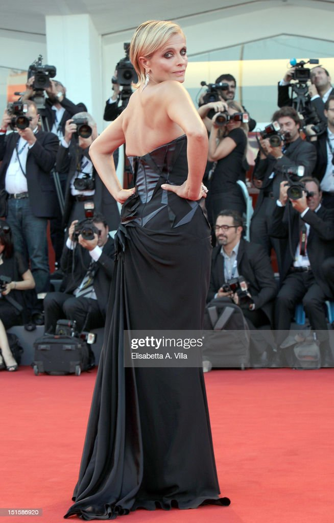Actress Isabella Ferrari attends the Award Ceremony during The 69th Venice Film Festival at the Palazzo del Cinema on September 8, 2012 in Venice, Italy.