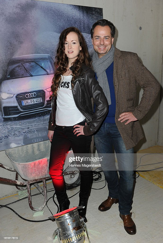 , Actress Isabella Jantz and Michael Sporrer attend the roofing ceremony at Audi second-hand car center on February 13, 2013 in Munich, Germany.
