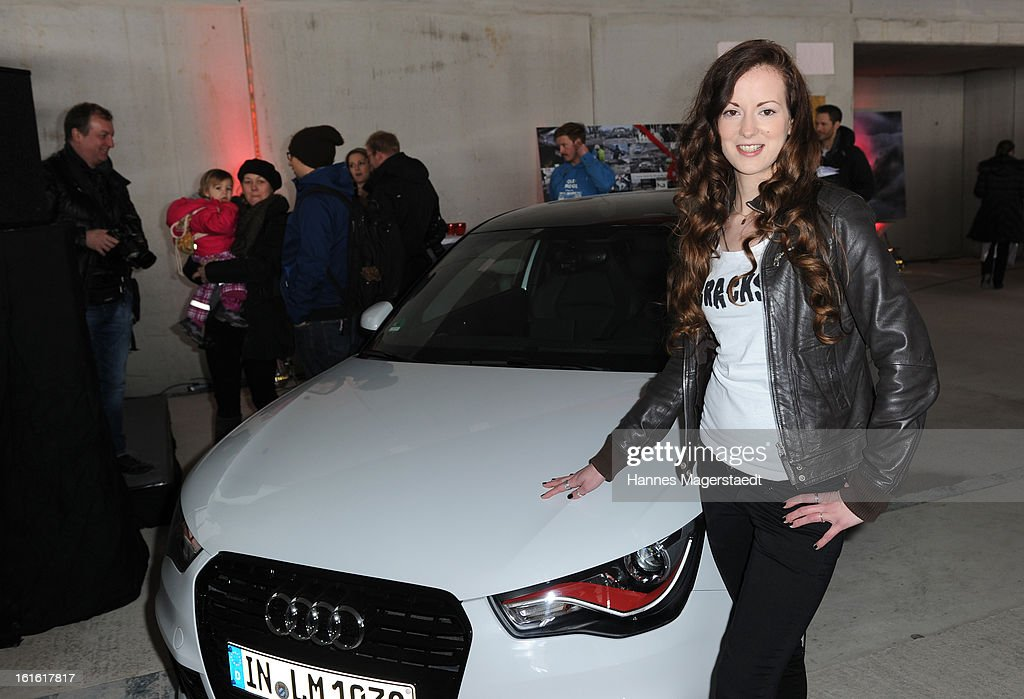 , Actress Isabella Jantz attends the roofing ceremony at Audi second-hand car center on February 13, 2013 in Munich, Germany.