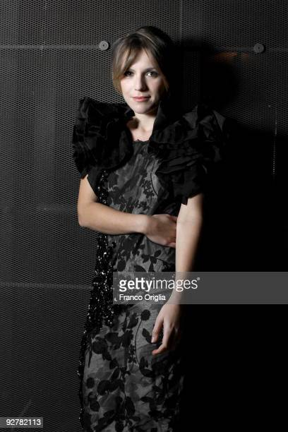 ROME OCTOBER Actress Isabella Ragonese attends a portrait session for the movie 'Viola Di Mare' d16val held at the Levi's Mov Space on October 16...