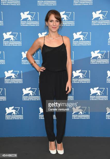 Actress Isabella Ragonese attends 'Il Giovane Favoloso' Photocall during the 71st Venice Film Festival at Palazzo Del Casino on September 1 2014 in...