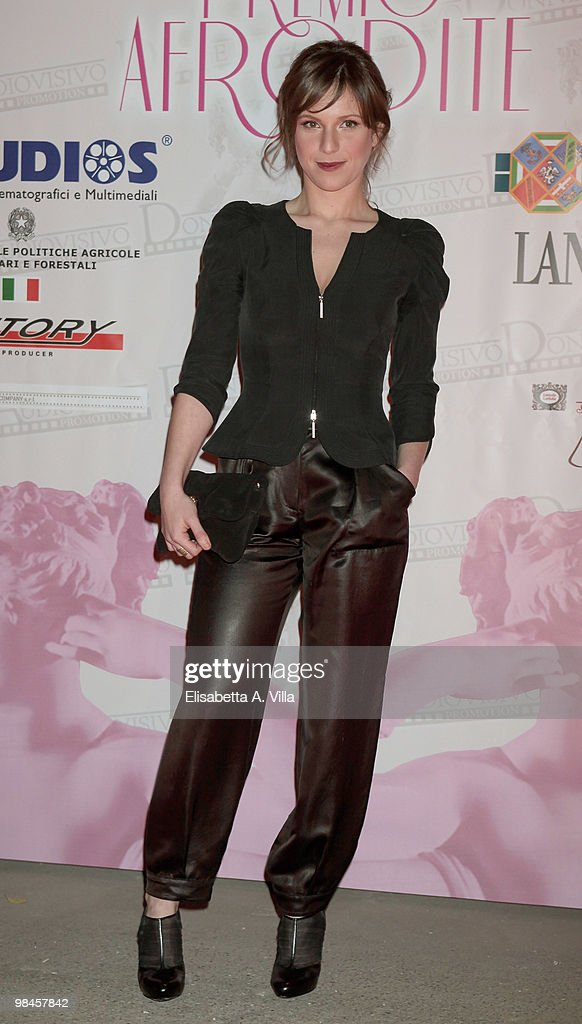 Actress Isabella Ragonese attends the '2010 Premio Afrodite' at the Studios on April 14, 2010 in Rome, Italy.