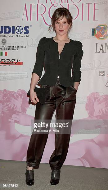 Actress Isabella Ragonese attends the '2010 Premio Afrodite' at the Studios on April 14 2010 in Rome Italy