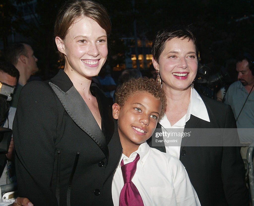 Actress Isabella Rossellini and her daughter Elettra and son Roberto arrive at the 60th Anniversary of 'Casablanca' gala tribute screening and DVD release event at Alice Tully Hall, Lincoln Center, on August 11, 2003 in New York City.