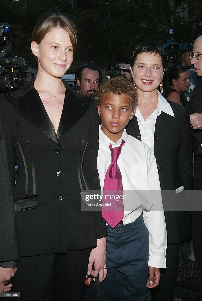 Actress Isabella Rossellini and her daughter Elettra and son Roberto arrive at the 60th Anniversary of 'Casablanca' gala tribute screening and DVD release event at Alice Tully Hall, Lincoln Center on August 11, 2003 in New York City.