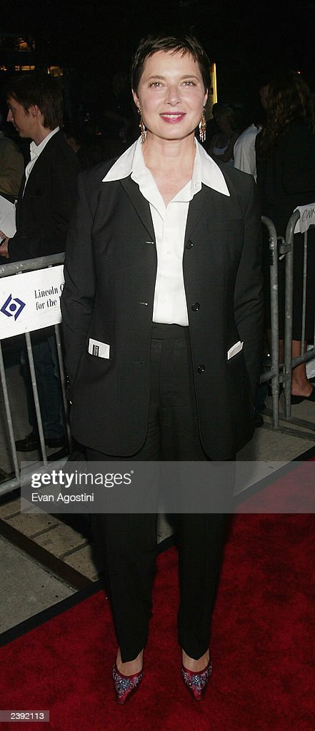 Actress Isabella Rossellini arrives at the 60th Anniversary of 'Casablanca' gala tribute screening and DVD release event at Alice Tully Hall, Lincoln Center on August 11, 2003 in New York City.