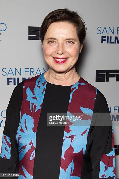 Actress Isabella Rossellini arrives at the screening of 'Isabella Rossellini's Green Porno Live' at 58th San Francisco International Film Festival at...