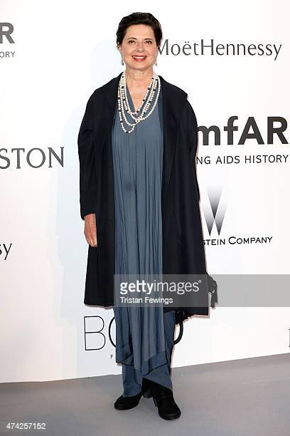 Actress Isabella Rossellini attends amfAR's 22nd Cinema Against AIDS Gala Presented By Bold Films And Harry Winston at Hotel du CapEdenRoc on May 21...