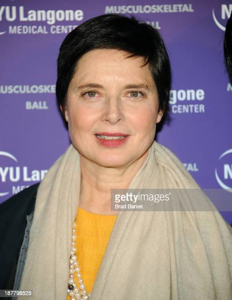 Actress Isabella Rossellini attends the 2013 NYU Langone Medical Center Musculoskelatal Ball at American Museum of Natural History on November 12...