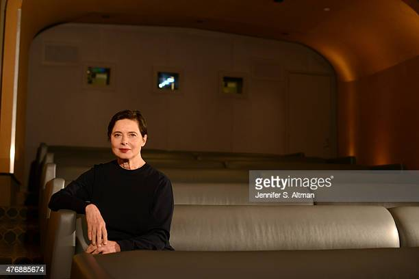 Actress Isabella Rossellini is photographed for Los Angeles Times on April 23 2015 in New York City