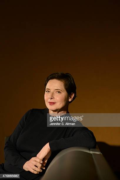 Actress Isabella Rossellini is photographed for Los Angeles Times on April 23 2015 in New York City PUBLISHED IMAGE