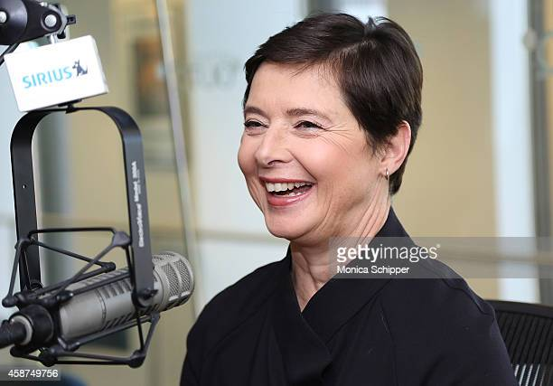 Actress Isabella Rossellini visits SiriusXM Studios on November 10 2014 in New York City