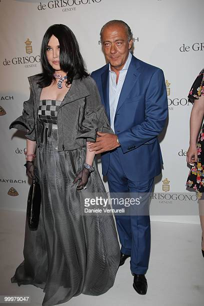 Actress Isabelle Adjani and Fawaz Gruosi attend the de Grisogono party at the Hotel Du Cap on May 18 2010 in Cap D'Antibes France