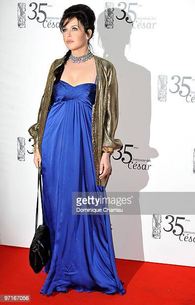 Actress Isabelle Adjani attends the 35th Cesar Film Awards at Theatre du Chatelet on February 27 2010 in Paris France