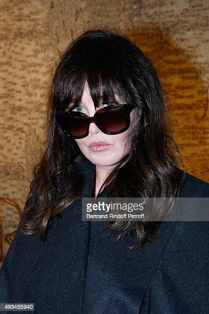 Actress Isabelle Adjani attends the 'New American Art' Exhibition of Artists Matthew Day Jackson and Rashid Johnson Opening Cocktail at Studio des...