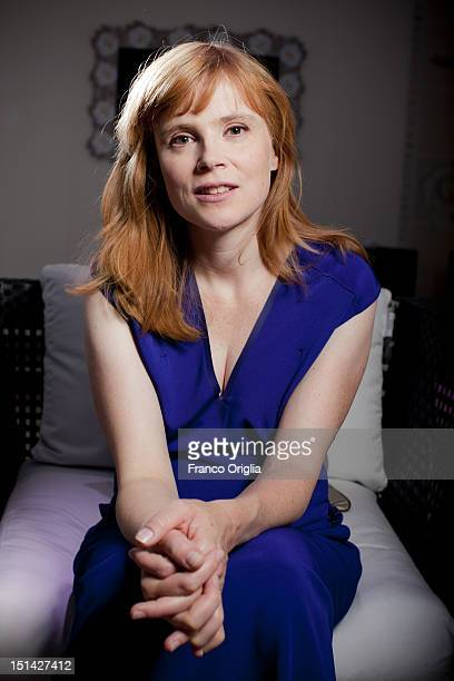 Actress Isabelle Carre from the film 'Cherchez Hortense' poses during the 69th Venice Film Festival at the JLC space on September 2 2012 in Venice...