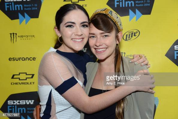 Actress Isabelle Fuhrman and Sarah Buckley attend 'The Wilderness of James' Photo Op and QA during the 2014 SXSW Music Film Interactive Festival at...