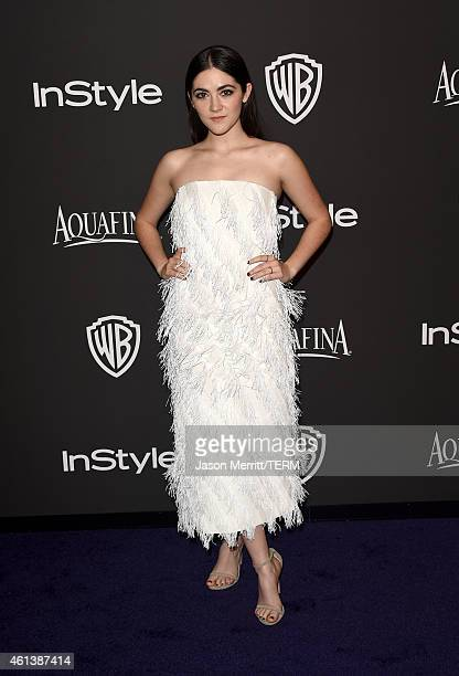 Actress Isabelle Fuhrman attends the 2015 InStyle And Warner Bros 72nd Annual Golden Globe Awards PostParty at The Beverly Hilton Hotel on January 11...