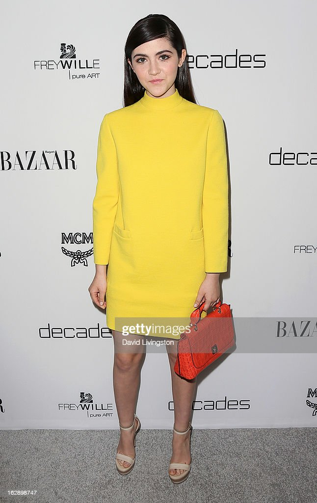 Actress Isabelle Fuhrman attends the Harper's BAZAAR celebration of Cameron Silver and Christos Garkinos of Decades new Bravo series 'Dukes of Melrose' at The Terrace at Sunset Tower on February 28, 2013 in West Hollywood, California.