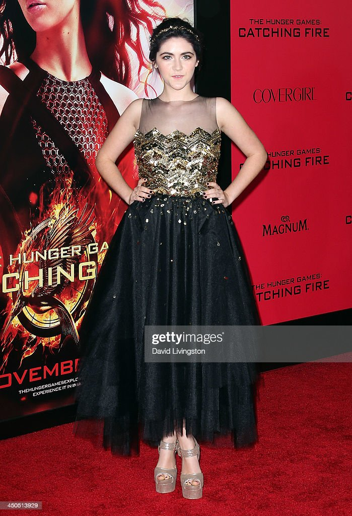 Actress Isabelle Fuhrman attends the premiere of Lionsgate's 'The Hunger Games: Catching Fire' at Nokia Theatre L.A. Live on November 18, 2013 in Los Angeles, California.