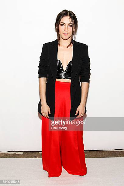 Actress Isabelle Fuhrman poses backstage at the Christian Siriano Fall 2016 fashion show during New York Fashion Week at ArtBeam on February 13 2016...