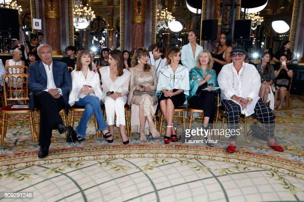 Actress Isabelle Huppert Actress Elsa Zylberstein guest Actress Clotilde Courau Actress Karin Viard and Journalist Kappauf attend the Lan Yu Haute...
