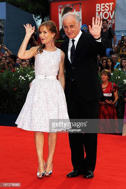 Actress Isabelle Huppert and actor Toni Servillo attend the 'Bella Addormentata' Premiere during The 69th Venice Film Festival at the Palazzo del...