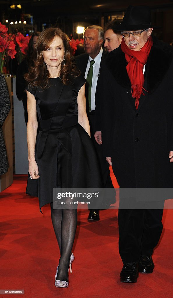 Actress Isabelle Huppert and Berlinale festival director Berlin Film Festival Director Dieter Kosslick attend the 'The Nun' Premiere during the 63rd Berlinale International Film Festival at Berlinale Palast on February 10, 2013 in Berlin, Germany.