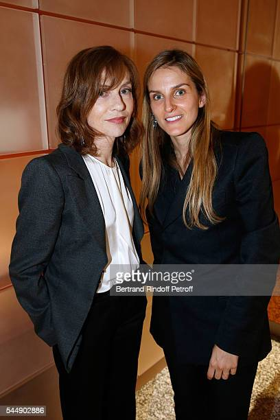 Actress Isabelle Huppert and Creative director of the Italian jewellery brand Repossi Gaia Repossi attend the Repossi Vendome Flagship Store...