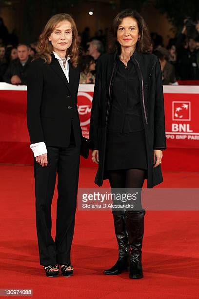 Actress Isabelle Huppert and director Anne Fontaine attend the 'Mon Pire Cauchemar' Premiere during the 6th International Rome Film Festival on...
