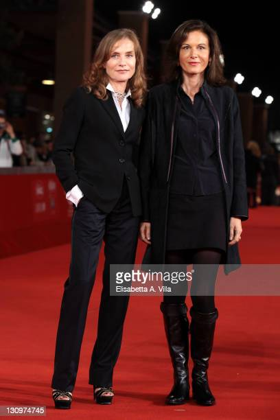 Actress Isabelle Huppert and director Anne Fontaine attend the 'Mon Pire Cauchemar' Premiere during the 6th International Rome Film Festival at...