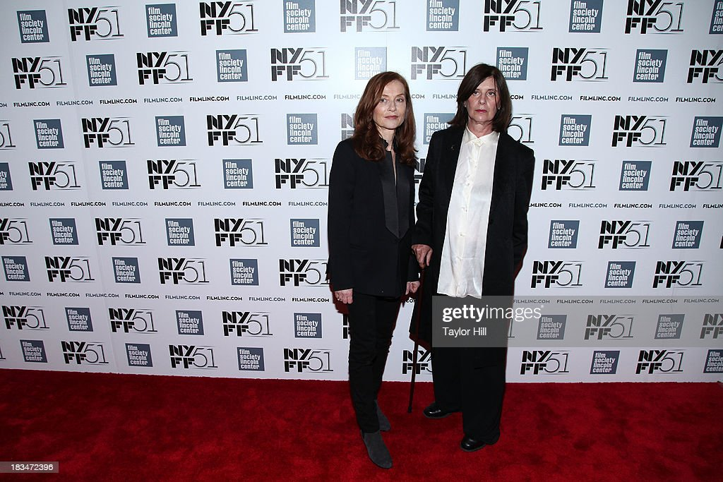 Actress Isabelle Huppert and director Catherine Breillat attend the 'Abuse Of Weakness' premiere during the 51st New York Film Festival at Alice Tully Hall at Lincoln Center on October 6, 2013 in New York City.