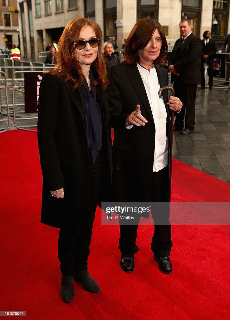 Actress Isabelle Huppert and director Catherine Breillat attend the 'Abuse Of Weakness' screening during the 57th BFI London Film Festival at the...