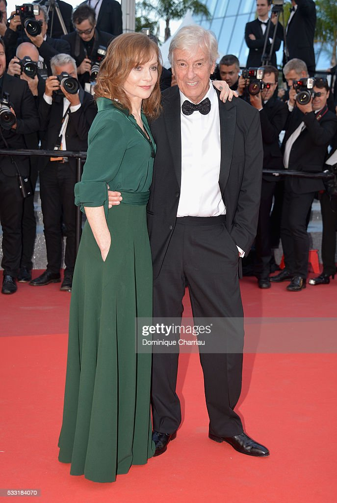 Actress Isabelle Huppert and director Paul Verhoeven attend the 'Elle' Premiere during the 69th annual Cannes Film Festival at the Palais des Festivals on May 21, 2016 in Cannes, France.
