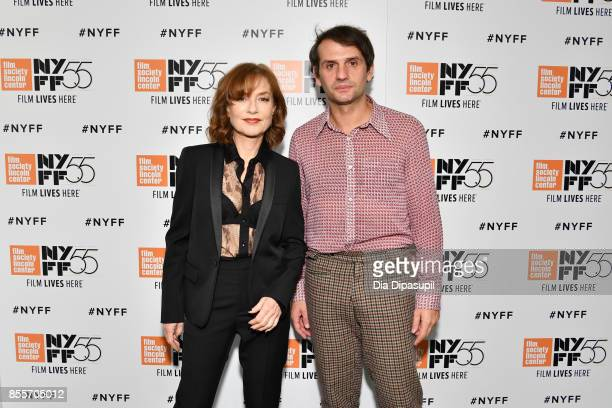 Actress Isabelle Huppert and director Serge Bozon attend the premiere of 'Mrs Hyde' during the 55th New York Film Festival at Alice Tully Hall...