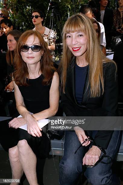 Actress Isabelle Huppert and Victoire de Castelane attend Christian Dior show as part of the Paris Fashion Week Womenswear Spring/Summer 2014 held at...