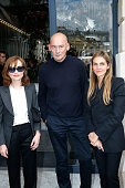 Actress Isabelle Huppert architect Rem Koolhaas and Creative director of the Italian jewellery brand Repossi Gaia Repossi attend the Repossi Vendome...