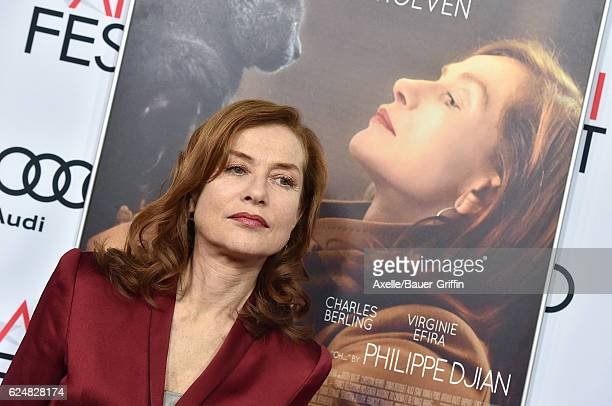 Actress Isabelle Huppert arrives at AFI FEST 2016 Presented by Audi A Tribute to Isabelle Huppert and Gala Screening of 'Elle' at the Egyptian...