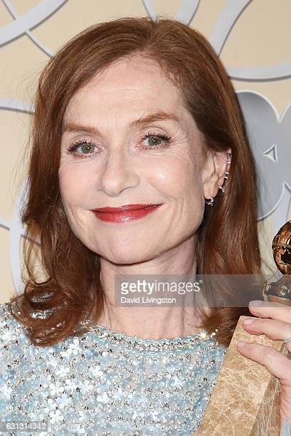 Actress Isabelle Huppert arrives at HBO's Official Golden Globe Awards after party at the Circa 55 Restaurant on January 8 2017 in Los Angeles...