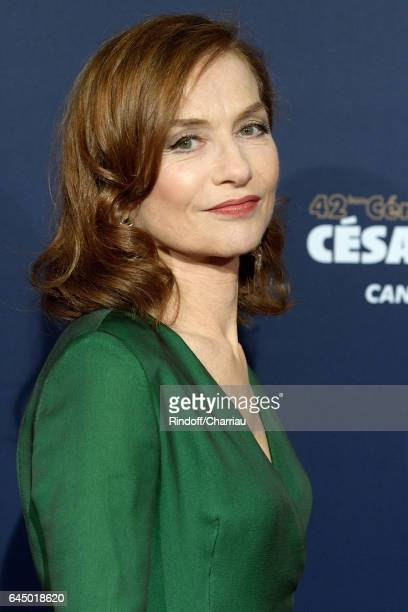 Actress Isabelle Huppert arrives at the Cesar Film Awards Ceremony at Salle Pleyel on February 24 2017 in Paris France